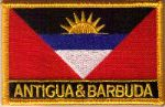 Antigua & Barbuda Embroidered Flag Patch, style 09.